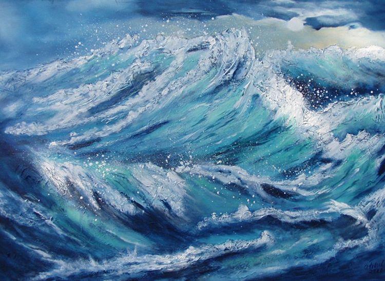 Sturm, Meer, Himmel, Malerei, See