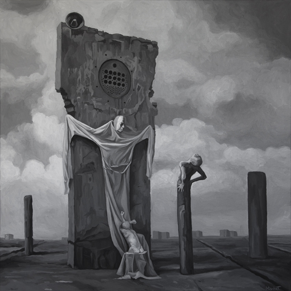Surreal düster, Tod, Apokalypse, Verzweiflung, Malerei