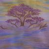 Baum, Dasein, Pastellmalerei, Hadesl