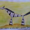 Malerei, Zebra, Polka
