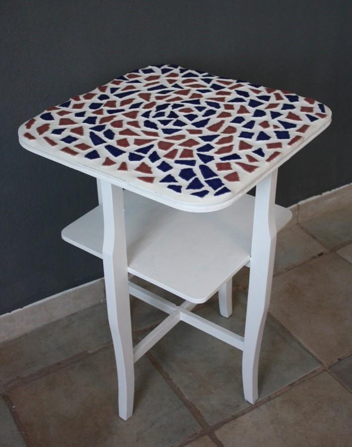bild tisch holztisch mosaik mosaiktisch von just. Black Bedroom Furniture Sets. Home Design Ideas
