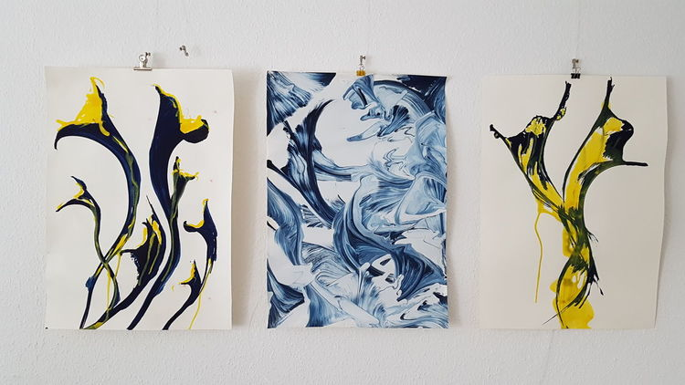 Acrylmalerei, Mischtechnik, Pinsel, Malerei