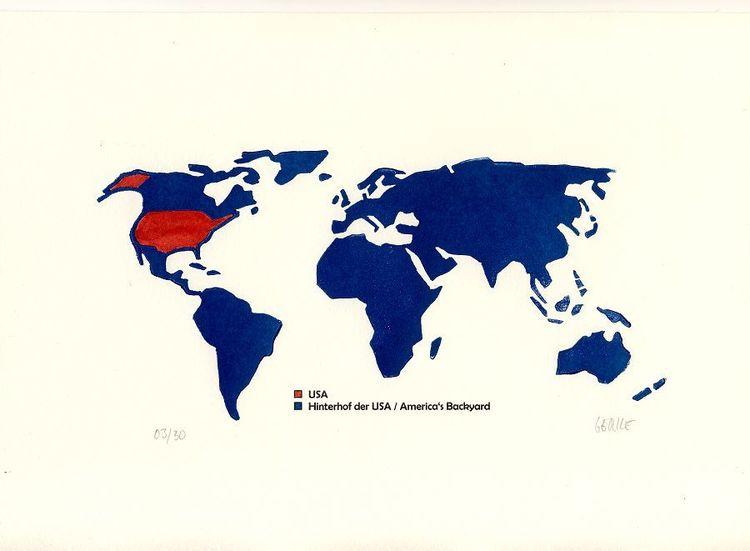 Weltkarte, Gesellschaftskritik, Staat, Usa, Macht, Globalisierungskritik