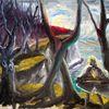 Ufer, Ostsee, Baum, Malerei