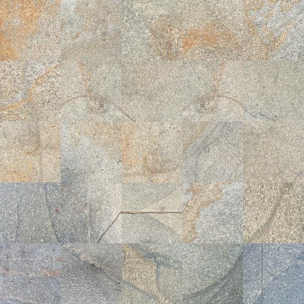 Mann, Fotografik, Collage, Quadrat, Pflaster, Gehwegplatten