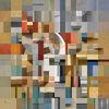 Quadrat, Collage, Fotografie, Fassade