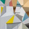 Polyeder, Quadrat, Farben, Dreiecke