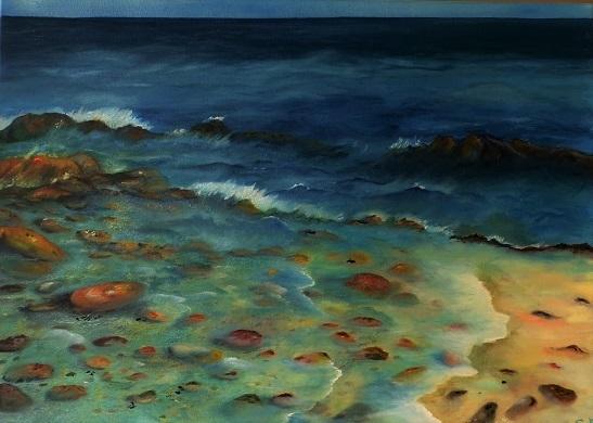 Meer, Wasser, Blau, Erde, Sstrand, Stein