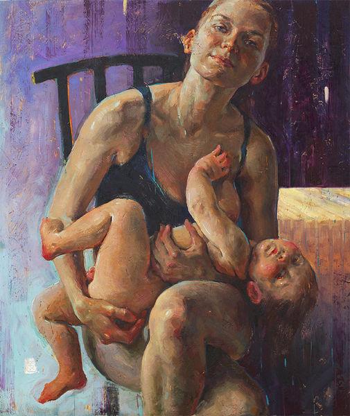Malerei, Realismus, Figural, Kunstwerk, Portrait, Zeitgenössische kunst