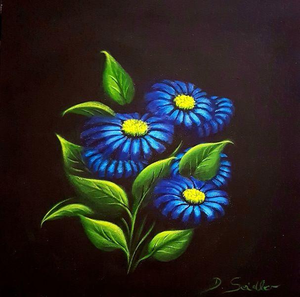 Blätter, Blüte, Blumen, Malerei