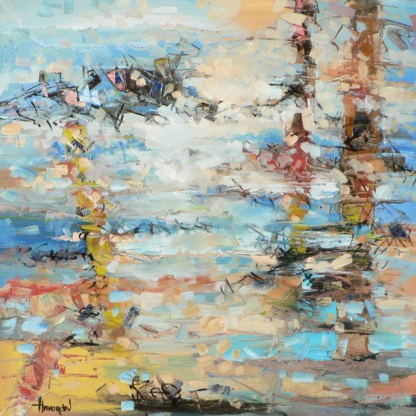 Gemälde, Ölmalerei, Abstrakt, Fliegen, Malerei, Humor