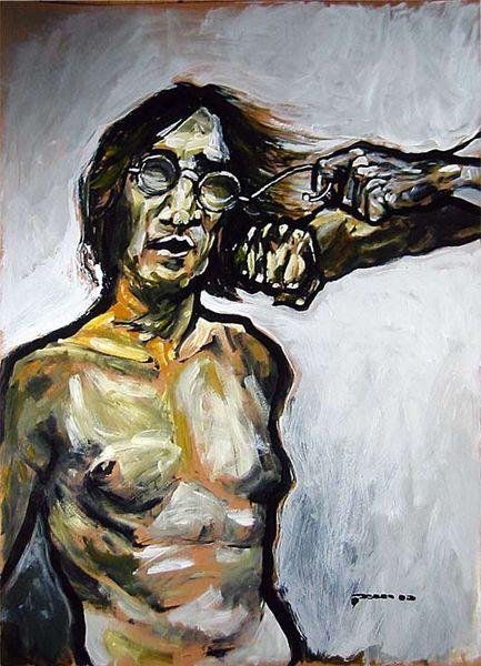 Malerei, Brille, Tag
