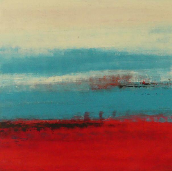 Caliente, Orange, Abstrakt, Erde, Blau, Modern