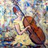 Bunt, Cello, Acrylmalerei, Malerei