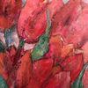 Tulpen, Rot, Frühling, Malerei