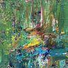 Baum, Wasser, Grün, Malerei