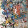 Blau, Abstrakt, Gelb, Malerei