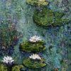 Wasser, Seerosen, Türkis, Malerei