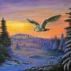 Gemälde, Schneeeule, Natur, Wald