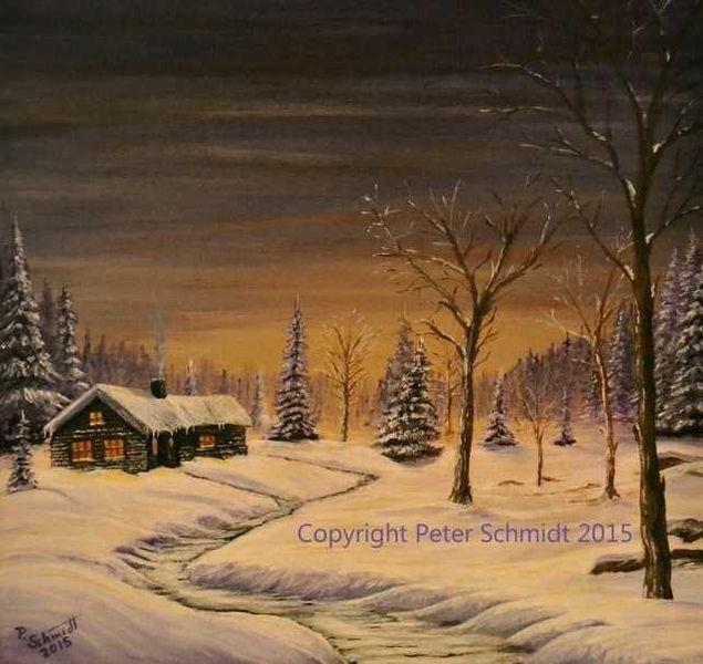 bild winterlandschaft winter schnee natur von peter schmidt bei kunstnet. Black Bedroom Furniture Sets. Home Design Ideas