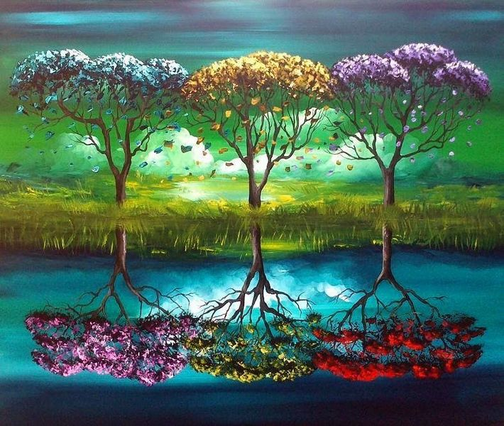 Malerei, Natur, Fantasie
