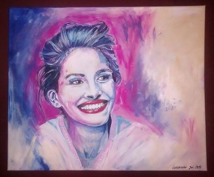 Portrait, Frau, Acrylmalerei, Malerei, Menschen
