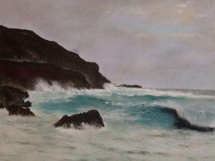 Wasser, Meer, Landschaft, Malerei, Mar