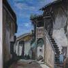 Camille corot, Ölmalerei, Replik, A village street