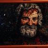 Bart, Mosaik, Grau, Mann