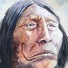 Indianer, Portrait, Wilder westen, Usa