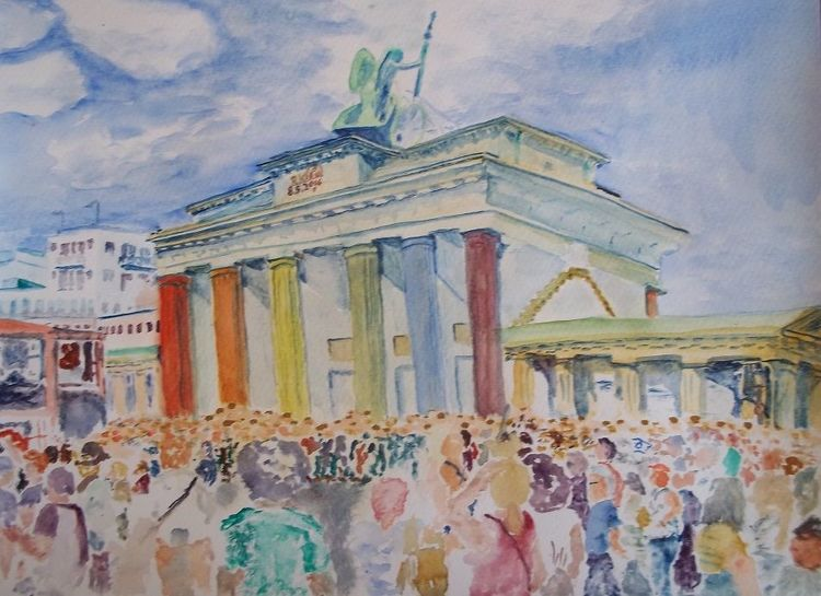 Gegen rechts, Menschen, Demonstration, Licht, Freiheit, Berlin