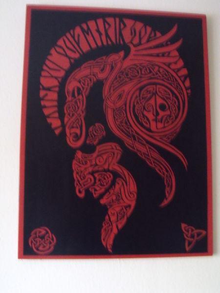 Schwarz, Malerei, Teufel,
