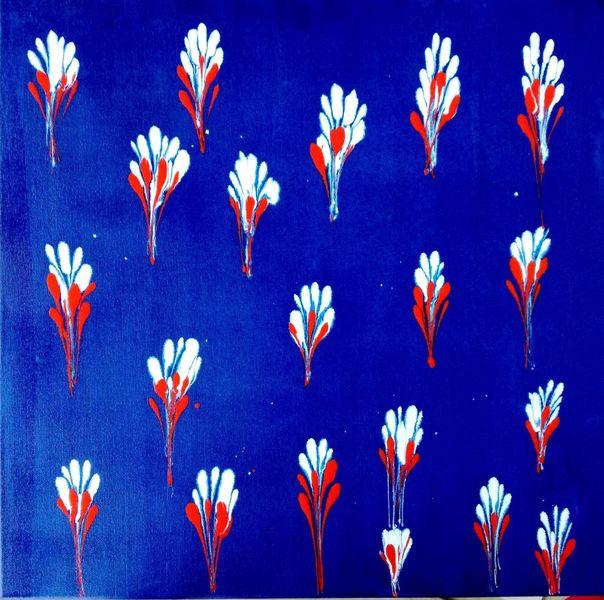 Blau, Abstrakt, Farben, Weiß, Malerei