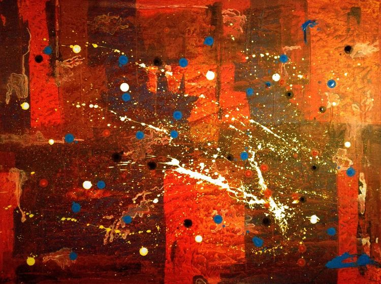 Abstrakt, Warm, Chaos, Folie, Bunt, Malerei