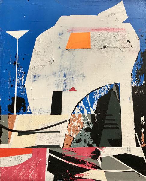 Avantgarde, Acrylmalerei, Futurismus, Technologie, Modern, Metaphysisch