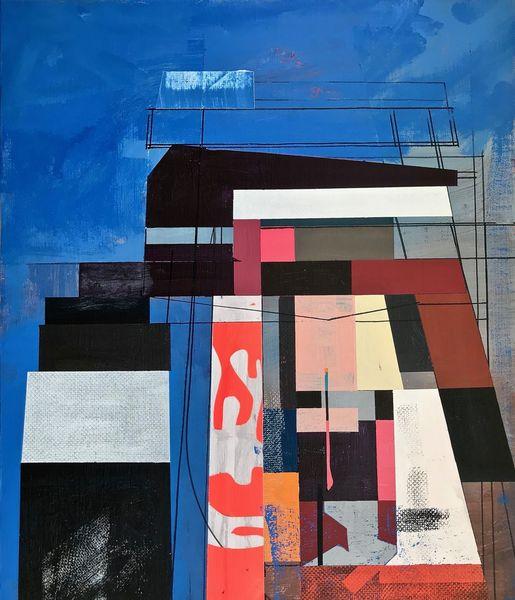 Futurismus, Acrylmalerei, Avantgarde, Zeitgenössisch, Metaphysisch, Abstrakt