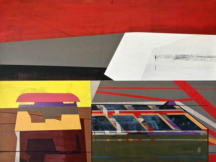Modern, Rot, Avantgarde, Metaphysisch, Zeitgenössisch, Geometrie
