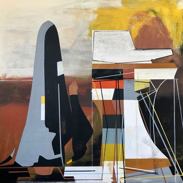 Acrylmalerei, Futurismus, Avantgarde, Abstrakt, Metaphysisch, Zeitgenössisch