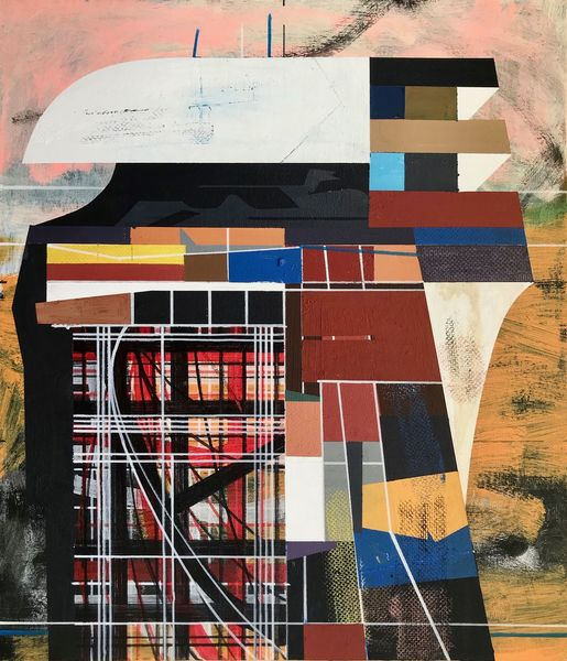 Metaphysisch, Architektur, Technologie, Futurismus, Acrylmalerei, Avantgarde