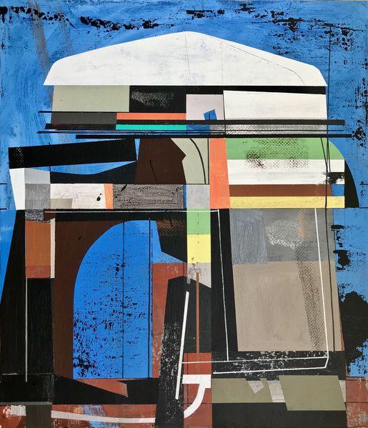 Metaphysisch, Modern, Technologie, Technik, Futurismus, Acrylmalerei
