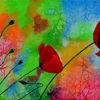 Poppies, Texture, Pflanzen, Bright
