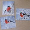 Schnee, Winter, Vogel, Aquarell