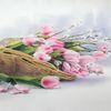 Korb, Tulpen, Frühling, Rosa