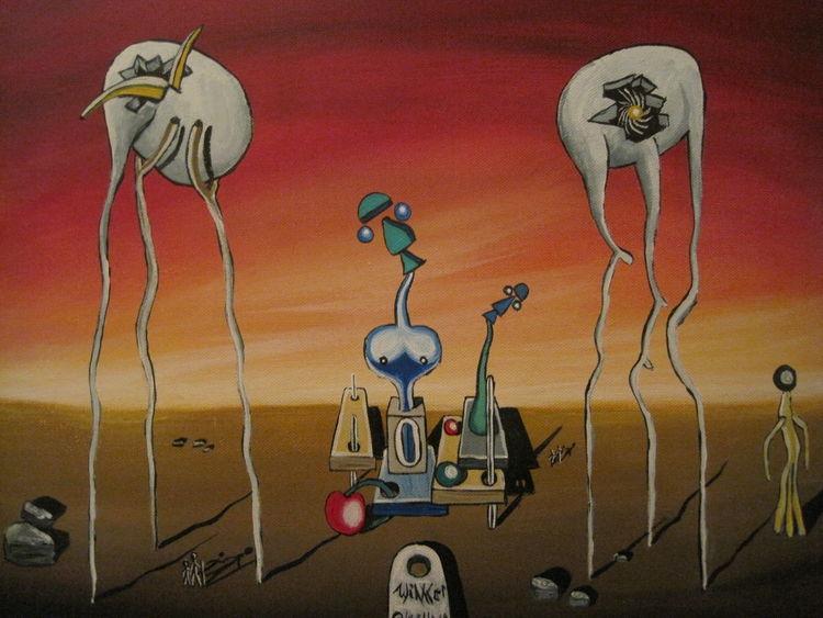 Fantasie, Klonen, Seele, Landschaft, Entdeckung, Surreal
