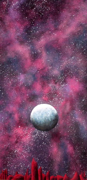 Planet, Astronomie, Acrylmalerei, Universum, Weltall, Malerei