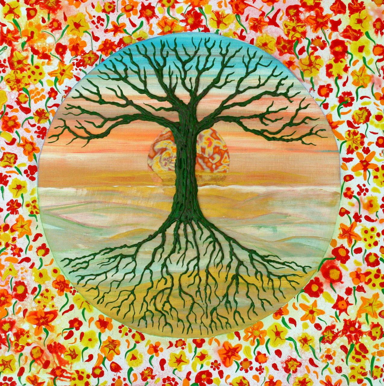 bild blumen lebensbaum baum des lebens tree of life. Black Bedroom Furniture Sets. Home Design Ideas