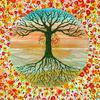 Baum des lebens, Blumen, Tree of life, Lebensbaum