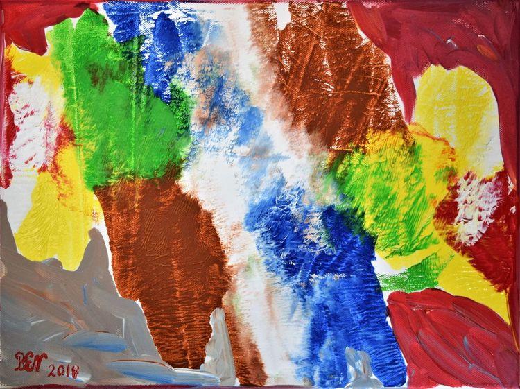 Acrylmalerei, Farben, Abstrakt, Malerei, Elemente