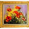 Rose, Malerei, Ölmalerei, Grün