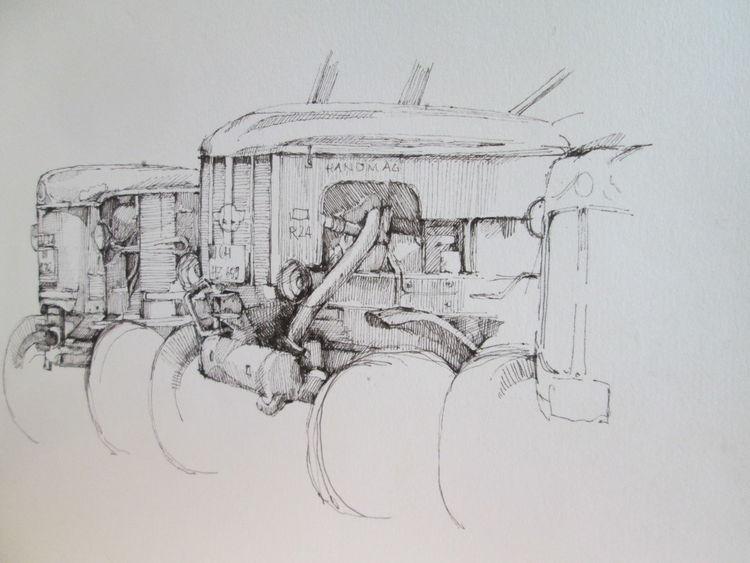 Urban sketch, Tuschestift, Skizzenheft, Zeichnungen